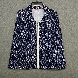 New Lilly Pulitzer zip front jacket. Size: M